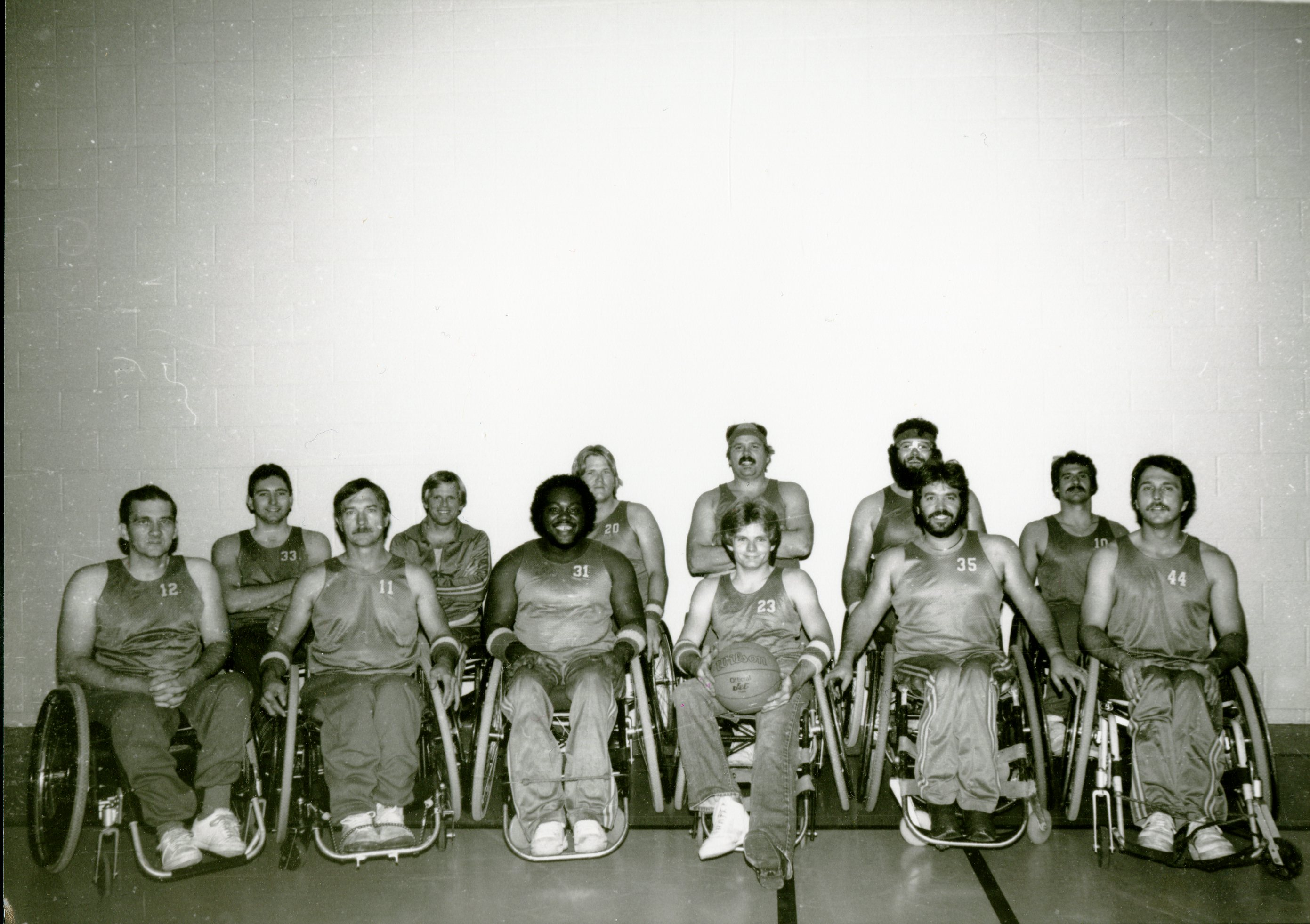 Wheelchair basketball team, part of the Therapeutic Recreation program.