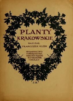 Cover of: Planty Krakowskie | Franciszek Klein
